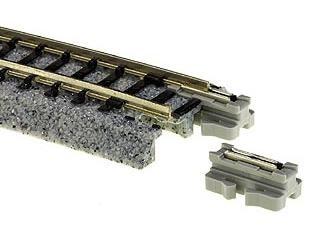Bettungsgleis, Länge 166mm gerades Anschlussgleis mit Entstörkondensator