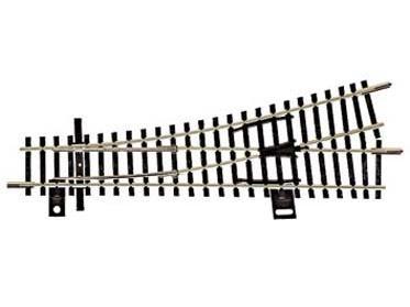 Einfache Weiche EW1 links 15° brüniert, Länge 129,5