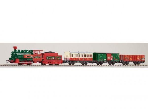 S-Set Weihnachten Lok + 3 Wagen