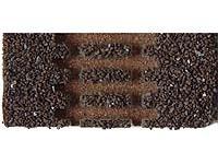 Gleisbettung Modellgleis dunkel (braun) für einfache Weiche rechte Weiche (EW 1 83321 15°)