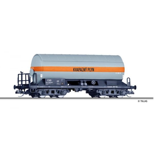 """Gaskesselwagen Ra """"KVAPALNY PLYN"""", eingestellt bei der CSD mit Sonnenschutzdach, Ep. III"""