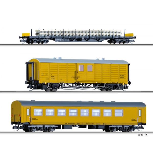Güterwagenset Gleisbauzu