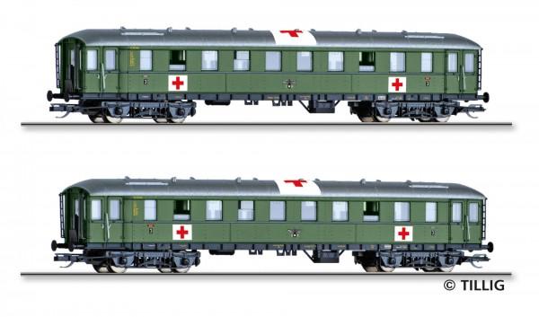"""Personenwagenset """"Lazarettzug"""" der DRG, bestehend aus zwei Reisezugwagen, Ep. II"""