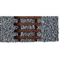 Gleisbettung Modellgleis hell (grau) für einfache linke Weiche (EW 3 83342 12°)