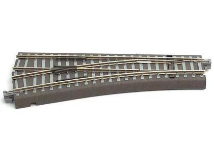 Bettungsgleis, Länge 129,5 mm Handweiche links 15°