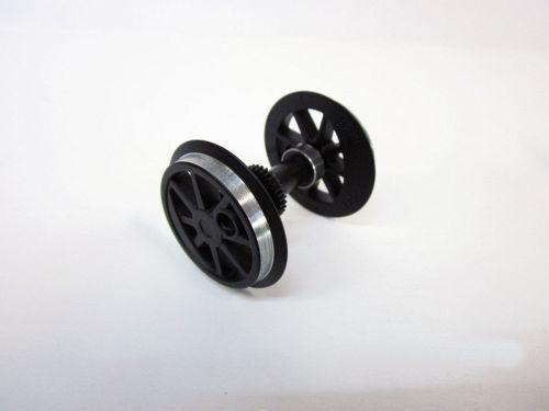 G-Radsatz (KL) schwarz + Zahnrad fuer US-Lok