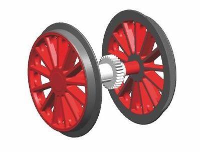 G-Radsatz rot BR 194 mit Zahnrad