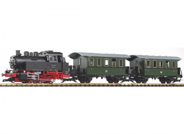 G-S-Set Personenzug BR 80 + zwei Personenwg. + Sound und Dampf DR III