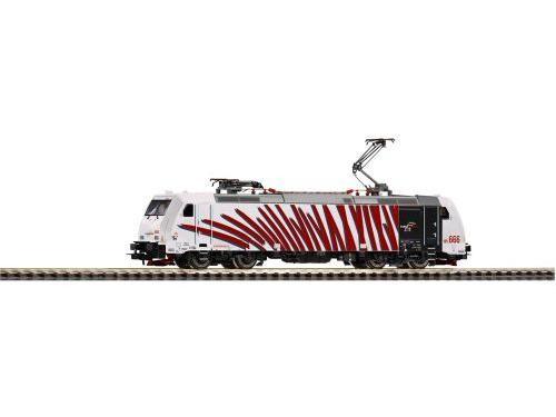 ~E-Lok BR 185.2 Lokomotion, zebra rot VI, 2 Pant +. lastg. Dec.