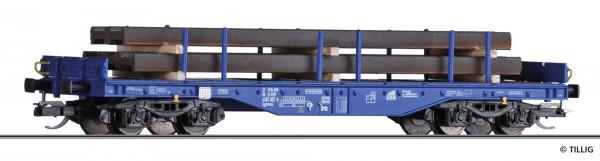 Flachwagen Sgmmns 4505 der ERR, mit Beladung, Ep. VI