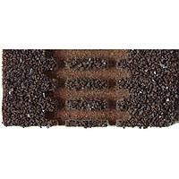 Gleisbettung Modellgleis dunkel (braun) für einfache linke Weiche (EW 3 83342 12°)