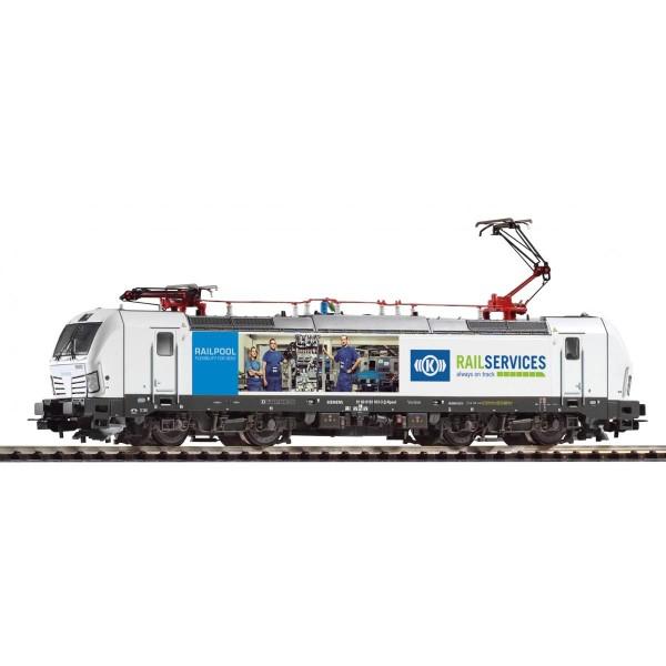 E-Lok Vectron 193 RAIL SERVICES, Knorr Bremse VI, zwei Pantos